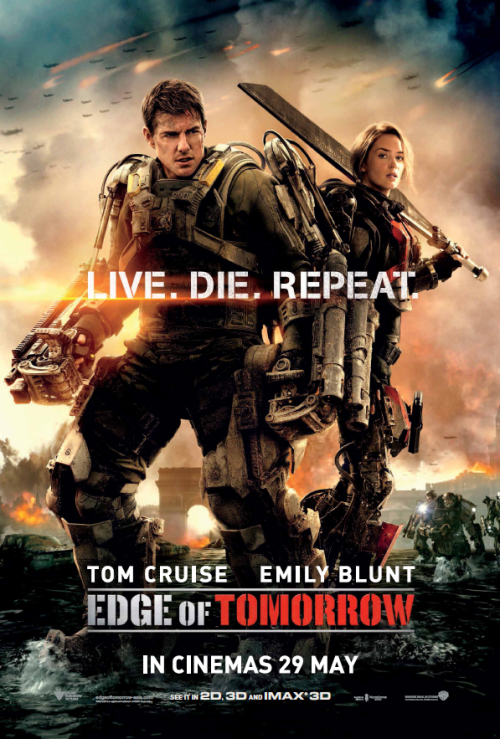EDGE OF TOMORROW ACTUAL POSTER